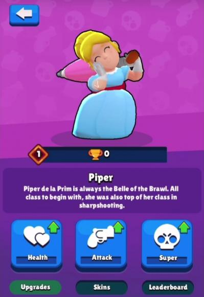 Piper nouveau brawler description perso brawl stars