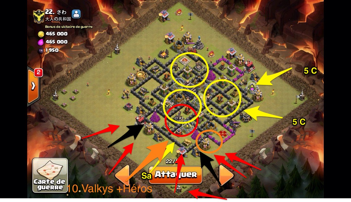Secrets de l'AQH des TOP PLAYERS Clash of Clans ! Plan-attaque-coc-govahog-skitch