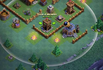 Portee defense contre snipe clash of clans