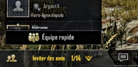 Pubg mobile equipe rapide onglet ami