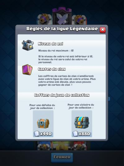 Regles ligue legendaire gdc clash royale
