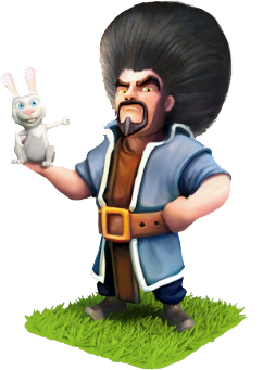 Sorcier lapin clash of clans cheveux afro surprise