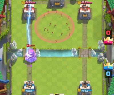 Stop chargement zappy astuce foudre clash royale