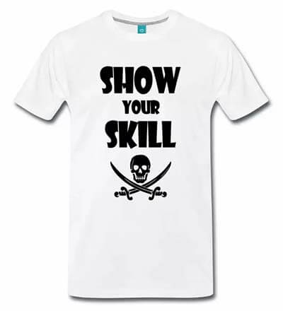 T shirt geek show your skill