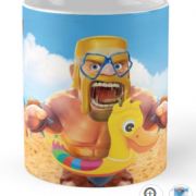 Tasse barbare canard plage clash of clans