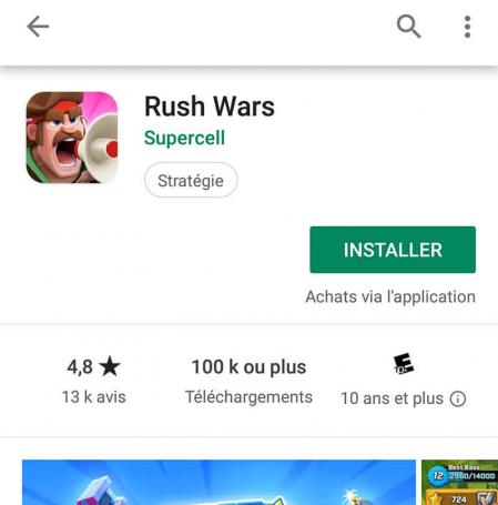 Telecharger rush wars android 4