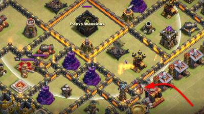 Tesla devier chateau de clan exemple astuce clash of clans