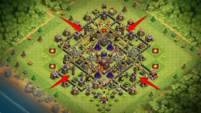 Tesla dispersee exemple astuce clash of clans