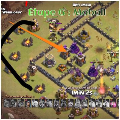 Tham smash clash of clans etape 6