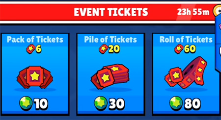 Tickets evenements boutique brawl stars