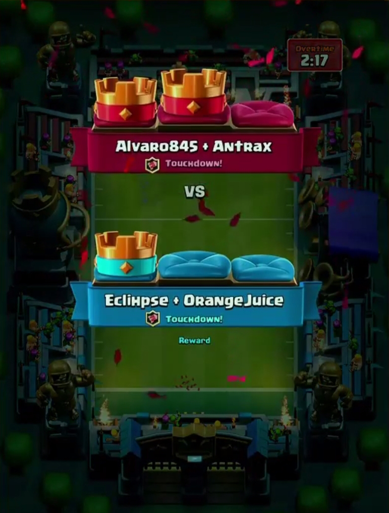 clash royale touchdown how to play
