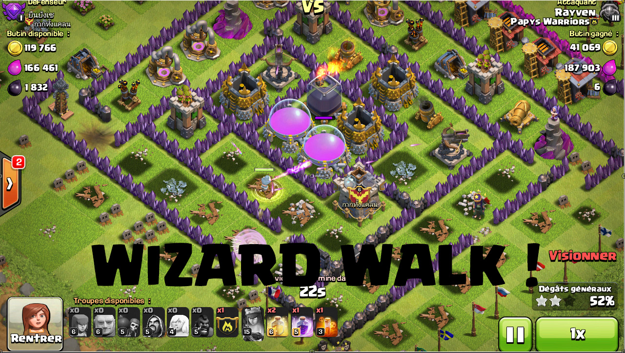 Wizard walk sorcier invincible clash of clans presentation